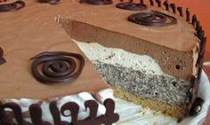 Parfe torta maková – nepečená | Moje obľúbené recepty