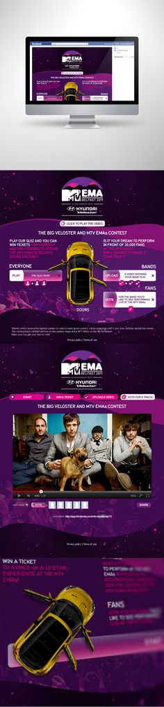 MTV EMA & Hyundai Veloster by Motyf , via Behance