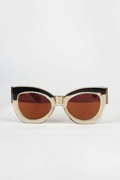 Karen Walker, Limited Edition Northern Lights Sunglasses - gold http://www.goodasgold.co.nz/collections/karen-walker