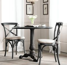 RH's Rectangular Table Collections:At Restoration Hardware, you'll explore an exceptional world of high quality unique dining room furniture. Browse our selection of dining room furniture sets & more at Restoration Hardware. Dining Room Furniture Sets, Crossback Chairs, Bistro Table, Cafe Chairs, Furniture, Side Chairs, Table And Chairs, Home Decor, Chic Furniture