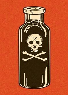 This Bottle of Poison illustration is a unique illustration by CSA Images. View our online stock illustration collection! Gravure Illustration, Illustration Vector, Art Pop, Halloween Art, Vintage Halloween, Halloween Printable, Halloween Witches, Pop Art Vintage, Silkscreen