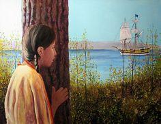 Canadian Metis Artist Dennis J. Weber First Contact kK
