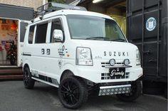 Suzuki Every, Suzuki Cars, Kei Car, 4x4 Van, Vans Style, Mini Trucks, Car Shop, Van Life, Custom Cars