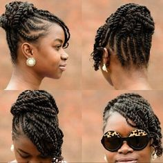 Box braids hairstyles ideas updo Click this image for more info. Box Braids Hairstyles, Flat Twist Hairstyles, Flat Twist Updo, Protective Hairstyles, Protective Styles, Hairstyle Braid, Natural Updo Hairstyles, Black Hairstyles, Kid Hairstyles
