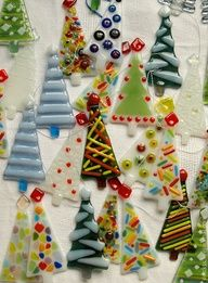 Christmas Trees Fused Glass Projects | Fused Glass Projects