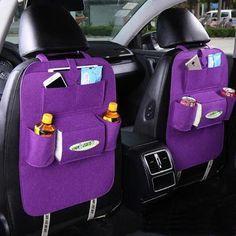 Car Back Seat Storage Bag Car Seat Cover Organizer Trash Net Holder Multi-Pocket Holder for Organizer Auto Storage Pouch Ford Focus 2, Car Storage Box, Seat Storage, Food Storage, Hanging Storage, Auto Styling, Automobile, Car Seat Organizer, Ideas