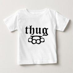 Baby's | First Christmas Thug Humor Funny Baby T-Shirt