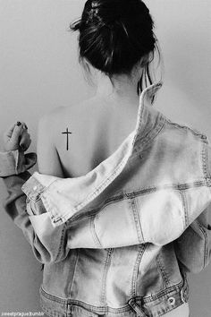Cross tattoo...i like this. Placement and Everything...