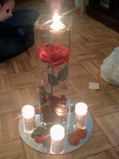 Beauty and the Beast inspired center pieces! So pretty!