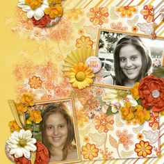 Scrapkit BrightandBeautiful by #SeatroutScraps Photos by #kpmelly  #ct #portrait #layout