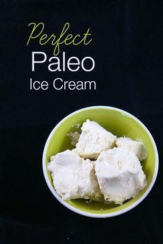 Perfect paleo ice cream made with almond milk, coconut milk and vanilla