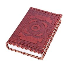 Amazon.com : Floral Designed Pocket Leather Diary Notebook with Handmade Papers (6 x 4 inches) : Office Products