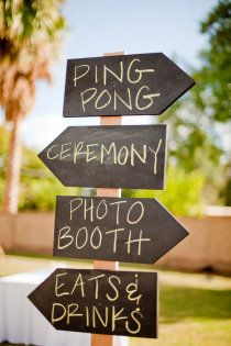 Definitely my families kinda wedding sign lol.. but beer ping not ping pong (;
