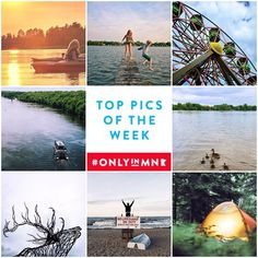 "From camping, to kayaking or riding a Ferris Wheel in the middle of #Minneapolis, you are bound to find a great outdoor activities in #Minnesota. Here are our ""Top Pics of the Week."" Share your summer photos using #OnlyinMN for your chance to appear on our feed."