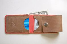 Slim Bill Leather Wallet / designed by Robbie Moto
