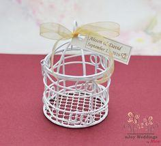 FREE Personalization  Birdcage wedding favors by WeddingByNico