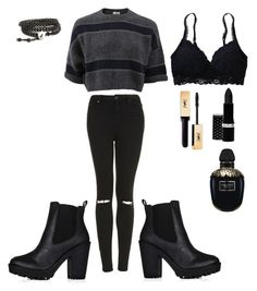 """""""Untitled #2"""" by sukhmani-bedi on Polyvore featuring Brunello Cucinelli, Aerie, Topshop, Hard Candy and Alexander McQueen"""
