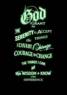 Inspirational quotes:The Serenity Prayer Glow in the Dark poster 1