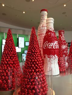 Christmas, The World of Coca-Cola, a permanent exhibition featuring the history of The Coca-Cola Company, Pemberton Place, Atlanta, Georgia