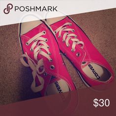 Converse Hot Pink only worn like 5 times Converse Shoes Sneakers