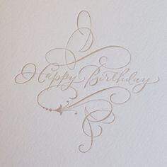PG304-HAPPY BIRTHDAY CALLIGRAPHY... www.bakedoctor.com