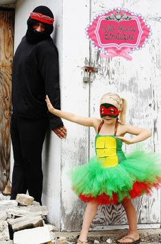 Ninja Turtles inspired costume- tutu dress for Halloween- Nija turtle dress with matching mask-Any turtle available on Etsy, $50.00
