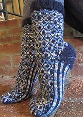 Ravelry: Socks for Jeans Series #1: Denim Dreams pattern by Deborah Tomasello