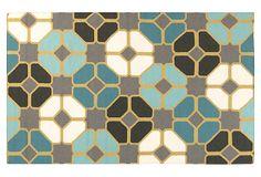 Hestia Flat-Weave Rug, Turquoise on OneKingsLane.com