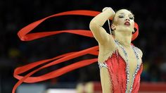 Canada's Patricia Bezzoubenko, seen here competing at the 2015 Pan Am Games, currently sits in 33rd with one event remaining at the rhythmic gymnastics world championships Wednesday in Germany.