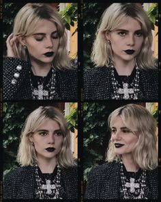 Short Grunge Hair, Lucy Boynton, Female Character Inspiration, Hair Color And Cut, Celebs, Celebrities, Celebrity Hairstyles, Makeup Looks, How To Look Better