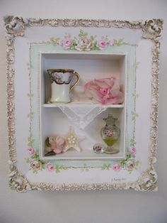 Vintage framed wall box