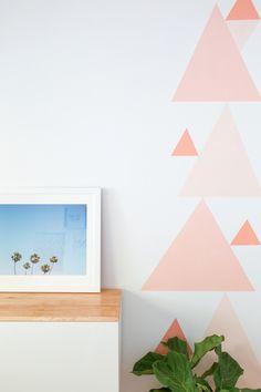DIY Geometric Accent Wall Tutorial  #DIY #craft #home