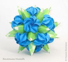 Кусудама Мастер-класс Оригами Модульные цветы для кусудамы + МК Бумага фото 1