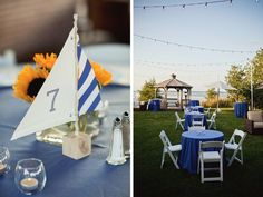 Sailboat table numbers by Ritzy Bee Events and Simplesong Design/Maria Vicencio Photography
