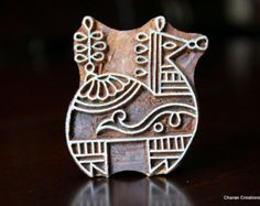 Hand Carved Indian Wood Textile Stamp Block by charancreations Ancient Indian Art, Tie Dye Crafts, Fabric Painting, Encaustic Painting, Fabric Stamping, Textiles, Wood Stamp, Handmade Soaps, Wood Blocks
