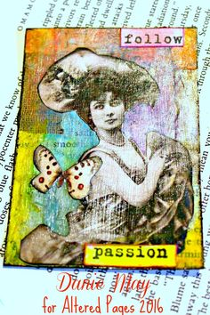 AlteredPages Artsociates: Lovely Ladies ATC's