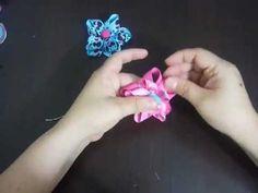 flor  estrella en cinta., lindo diseño para elaborar ganchos  o pinzas para el cabello