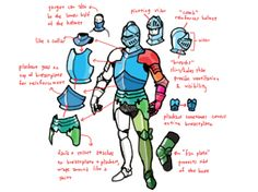 Can you do a tutorial on drawing knight armor?... - Monster Babies