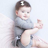 Macacão de bebê Recém-nascido Do Bebê Menina da Longo-luva Sólidos Bonito Romper Do Bebê New Baby One Peças Macacão Infantil…
