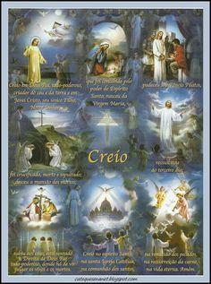 Menina Maria de Nazareth: ORAÇÃO DO PAI NOSSO, AVE MARIA, CREDO ILUSTRADOS