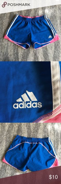 Adidas running shorts Running shorts in GUC - only defect is part of the logo peeling on front. adidas Shorts