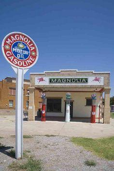 Magnolia Station, Route 66 Texas #Texas, #USA, #travel, https://apps.facebook.com/yangutu