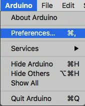 Arduino board manager setting.
