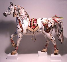 [SOLD] COPPER ENCHANTMENT™ ORIGINAL FOR THE TRAIL OF PAINTED PONIES™ NATIVE ART OF HORSE PAINTING COMPETITION.