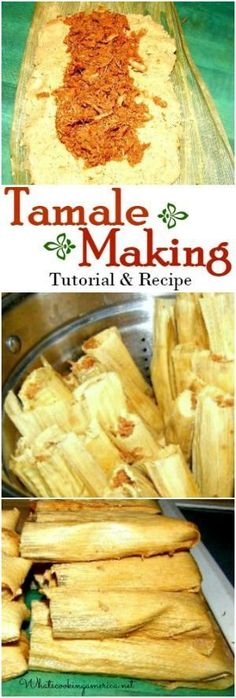 Tamale Making Tutorial & Recipe - Step by Step Instructions .- Tamale Making Tutorial & Recipe – Step by Step Instructions Tamale Making Tutorial & Recipe – Step by Step Instructions - Tostadas, Tacos, Mexican Cooking, Mexican Food Recipes, Tamale Meat Recipe Pork, Shredded Beef Tamales Recipe, Spanish Food Recipes, How To Make Tamales, Homemade Tamales