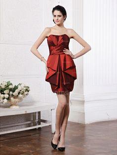 A-line Strapless Sleeveless Taffeta Cocktail Dresses - Choies.com