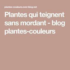 Plantes qui teignent sans mordant - blog plantes-couleurs
