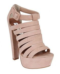 Steve Madden Women's Shoes, Audrinaa Platform Sandals in Blush Suede