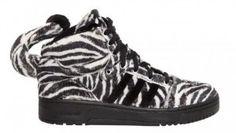 Prix Bas Baskets Jeremy Scott x adidas Originals Zebra Homme Blanc/Noir Outlet Paris