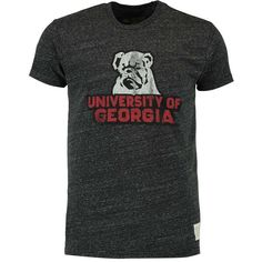 Georgia Bulldogs Original Retro Brand Vintage Tri-Blend T-Shirt - Heather Black - $29.99